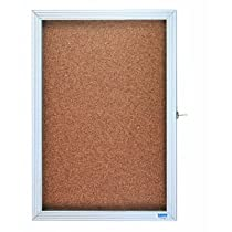 AARCO Products EBC3624 Economical Enclosed Bulletin Board Cabinet