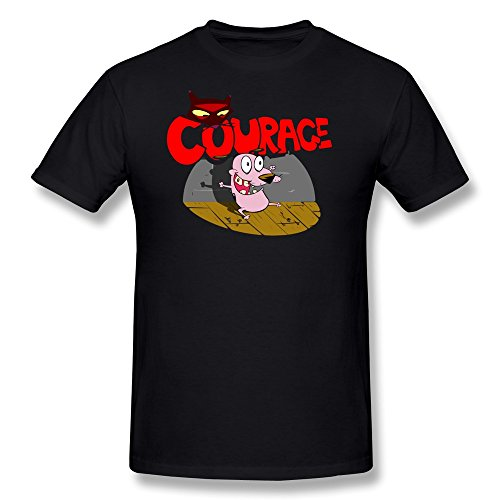 BoAlyn Men's Courage Dog T Shirt Small Black (Mad Dog Animated)