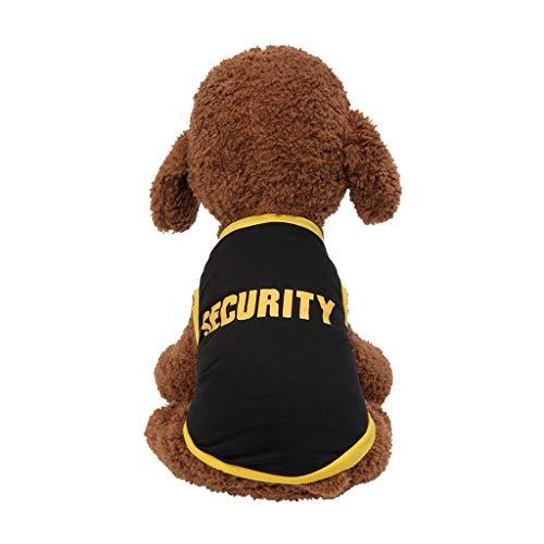 Geetobby Pet Vest Summer Breathable Thin Print Vest Dog Cat Clothes Pet T-Shirt Black