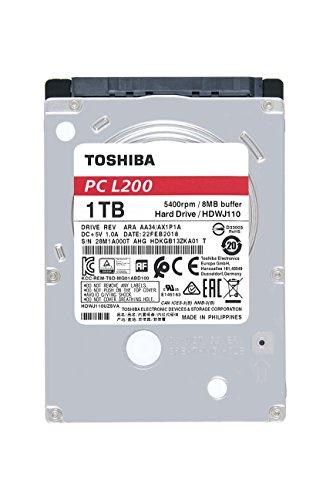 Toshiba HDWJ110XZSTA 1TB Mobile 2.5 Inch SATA 5400rpm Internal Hard Drive