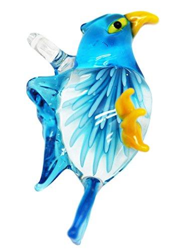 Eagle Glass Pendant - Light Blue Glass Eagle Pendant Charm
