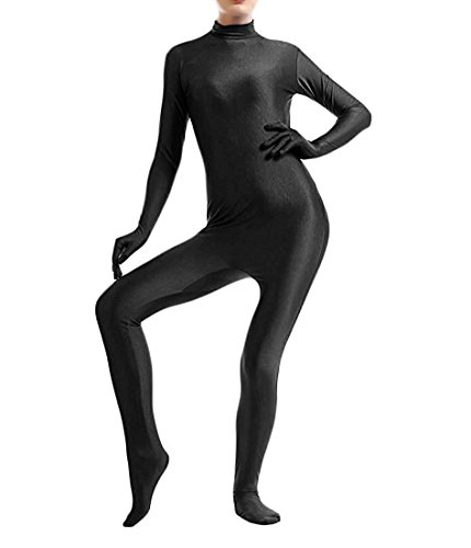 Unitard Dancewear (Treasure-box Women's Catsuit Dancewear Unitard Lycra Spandex Zentai Bodysuit M Black)
