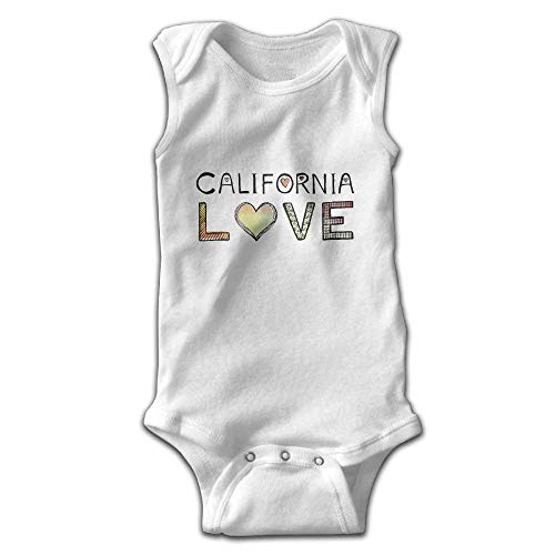 California Love for Newborn to 24 Months Unisex Bodysuit Romper Jumpsuit Outfits White