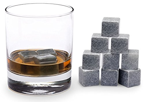 - Xcellent Global Best Whiskey Stones - Soapstone Whiskey Rocks and a Velvet Bag - 9 Piece Gift Set Chilling Your Drink without Diluting - Perfect as New Years, Christmas, Valentine's Day, Wedding, Father's Day, Birthday or Gift Card Idea for Him or for Your Next Cocktail Party M-HG066