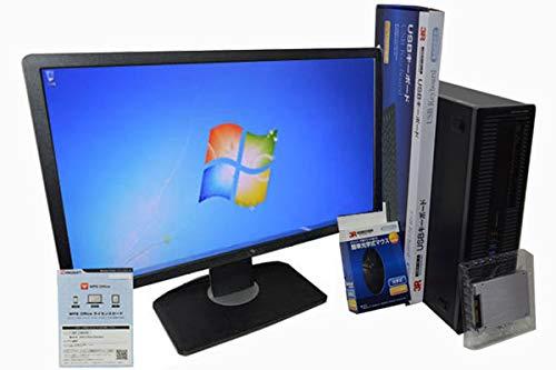 大特価放出! デスクトップパソコン【Office搭載】【23インチ HP FullHD (1920×1080) 液晶モニターセット 240GB】SSD/ 240GB (新品換装) HP EliteDesk 800 G1 SFF 第4世代 Core i5 4570/4GB/240GB/DVDROM/Windows 7/ 新品USBマウスキーボード付 B07Q8FPSF6, 中古ラケット屋本舗:662accee --- martinemoeykens.com