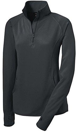 Joe's USA tm - Ladies Moisture Wicking Stretch 1/2-Zip Pullover Sweatshirt- XXL
