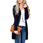 Amazon #DealOfTheDay: MEROKEETY Women's Long Sleeve Snap Button Down Solid Color Knit Ribbed Neckline Cardigans