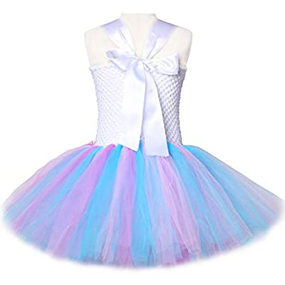 Pastel Unicorn Tutu Dress for Girls Kids Birthday Party Unicorn Costume Outfit with Headband Size 2T 3T 4T 5T 6T 7T 8T: Clothing