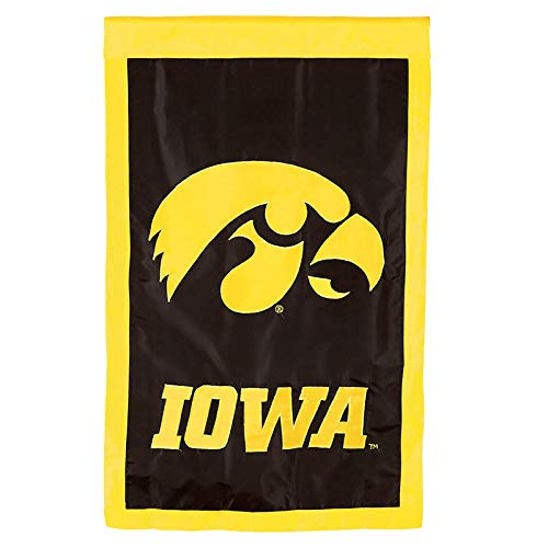 Flagline University of Iowa - 28 x 44 inch Double Sided Appliqued NCAA Banner