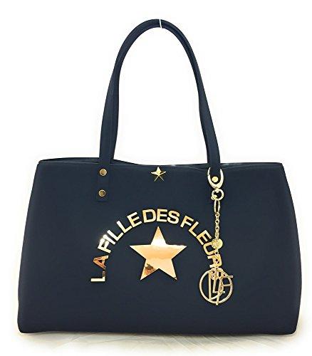 Shopping spalla manici whiz 30X45X14 bag LA BLACK FLEURS DES con FILLE a BORSA Marion REIRrq