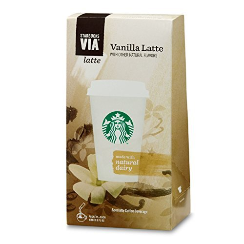2 Pack: Starbucks VIA Latte - Vanilla Latte (10 Single Serve Packets)