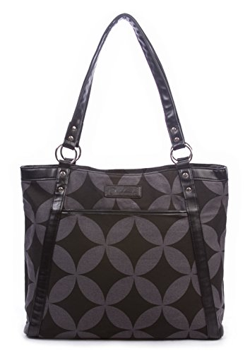 Overbrooke Classic Canvas Laptop Tote Bag - Womens Shoulder Bag for Laptops up to 15.6 Inches (Black & ()