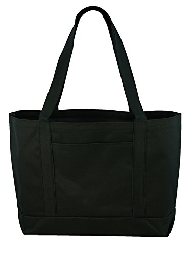 (Daily Tote with Shoulder Length Handles and Outside Pocket )