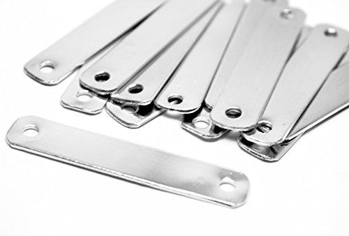 Aluminum Id Tags (NinjaCrafters Twenty - Five (25) Aluminum 16 gauge ID Tag Stamping Blanks - 1/2