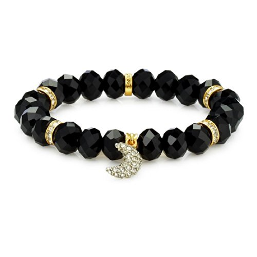 Juicy Couture Stretch Moon Beaded Charm Bracelet- - Couture Jewelry Fashion Bracelets Juicy