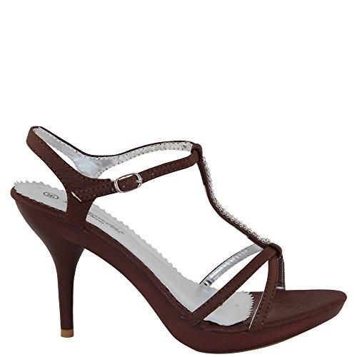 Marrón Sintético marrón de Rasalle Sandalias para mujer Paris de Material vestir HnnPWz4qZ