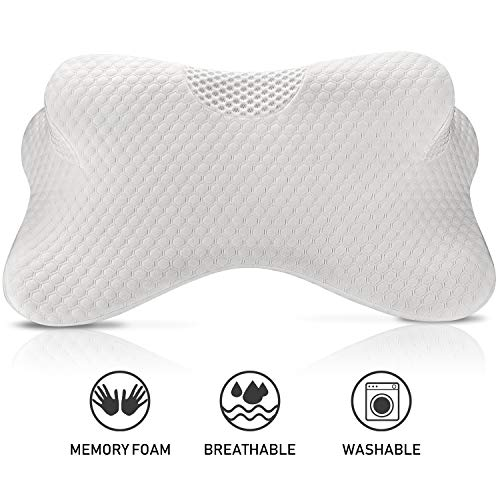 Coisum Stomach Sleeping Back Sleeping Cervical Pillow - Memory Foam Belly Sleeper Pillow for Neck and Shoulder Pain Relief - Orthopedic Ergonomic Pillow with Breathable Cover - CertiPUR-US