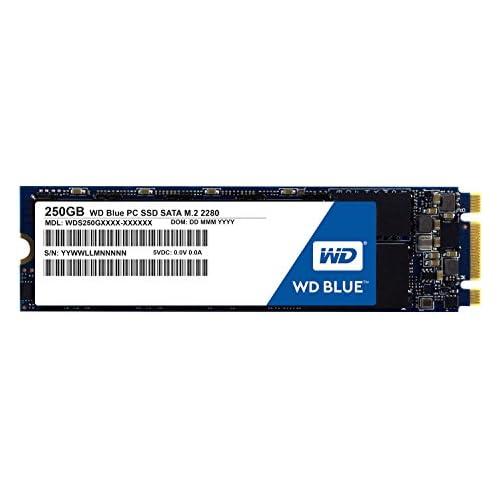 chollos oferta descuentos barato WD Blue SSD M 2 Disco duro sólido de 250 GB SATA III 6 GB s 200 M 2 SATA lectura secuencial de hasta 545 MB s y 525 MB s escritura