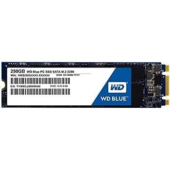 WD Blue 250GB Internal SSD - SATA 6 Gb/s M.2 2280 Solid State Drive - WDS250G1B0B
