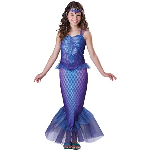 InCharacter Costumes Tween Mysterious Mermaid Costume, Bue/Purple, Medium
