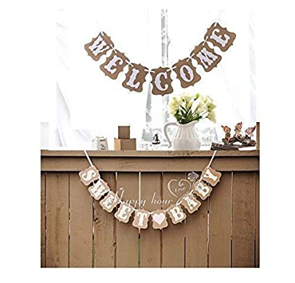 Amazon Com Welcome Sweet Rustic Vintage Baby Shower Decorations