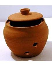 Garlic Storage Jar 9cm dia 9cm H Round shape Terracotta Hand made Guaranteed quality