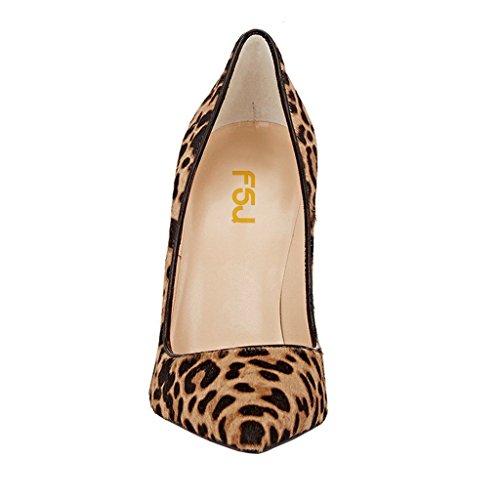 Fsj Vrouwen Sexy Luipaard Gedrukte Kleding Schoenen Puntige Teen Hoge Hakken Stiletto Pumps Size 4-15 Ons Leopard-suede