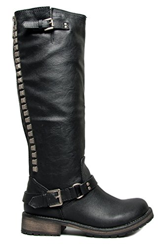 Breckelles Women Trooper-14 Boots Black T9qNe