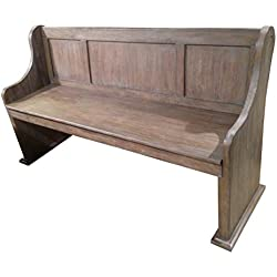Homelegance Toulon 62-Inch Church Pews Dining Bench Wire-Brushed Pine