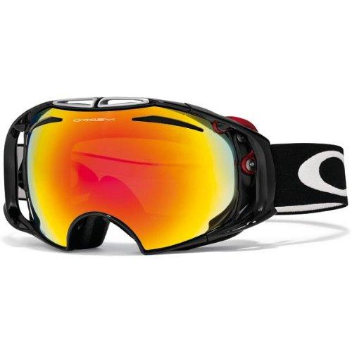 Oakley Airbrake Adult Goggles 2012; (Jet Black/Fire Iridium), Outdoor Stuffs