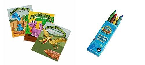 USToy 24 Piece Dinosaur Coloring Book & Crayons Bundle -