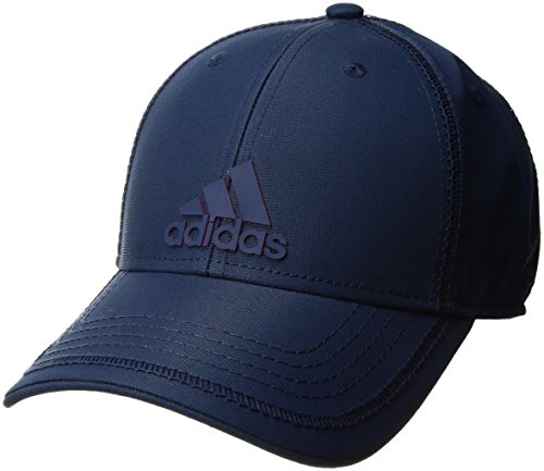 adidas Mens Contract III Structured Adjustable Cap, Mystery Blue/Scarlet, One Size