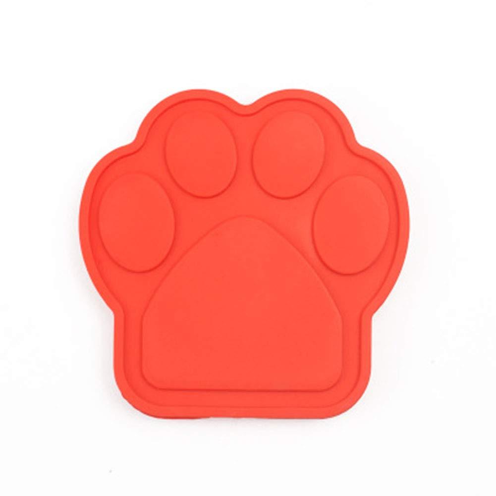 LanLan Ciotole per Cani e Gatti, Ciotola Ventosa Fissa Silicone, Tappetino Antiscivolo, Usa Bagnetto per Attenzione dei Animali Domestic porpora