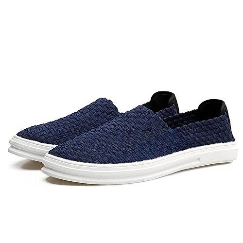 41 Loafer uomo da Dimensione Mocassino Lattice Xiazhi scuro EU Scuro Blu shoes Blu Color Grid PYpAaxq