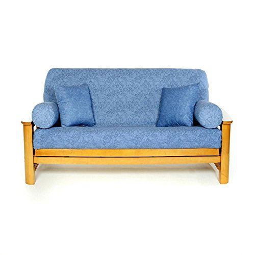LS COVERS WASHED DENIM FULL FUTON COVER, Full Size Fits 6-8in Mattress, 54 x 75 Inch
