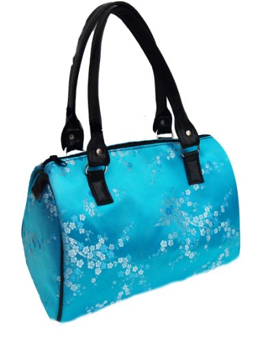 """Us Handmade Fashion Doctor Bag With """"blue Pattern Flowers"""" Pattern Satchel Styles Purse Blue Color Drb 4431 Drb-4431"""