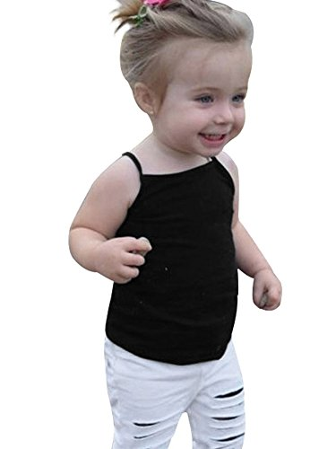Baby Girl Toddler Girls Kids Camisole Tank Top Undershirts Solid Soft Cotton