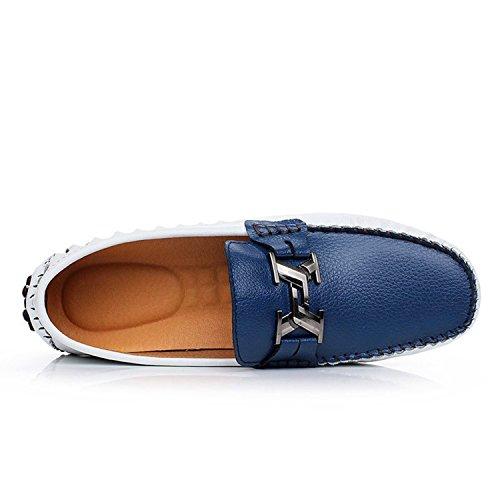 Di Car Dell'unità Casuale Degli Mocassini Grigio Blu Diapositive Scuro Uomini 44 Cuoio Shoe Ghiaccio Mocassini q8z0wtXA