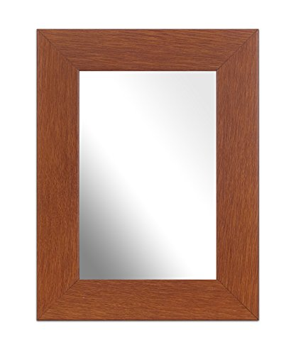 (Inov8 British Made 8x6-inch Traditional Mirror, Walnut)