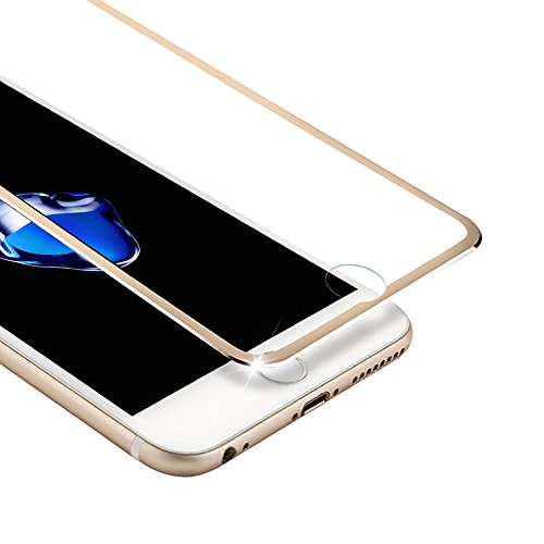 VIUME Screen Protector Compatible for Apple iPhone 7 Plus / 8 Plus, 9H Hardness iPhone 7 Plus/iPhone 8 Plus Tempered Glass Screen Protector 3D Full Coverage 5.5 (Metal Gold)