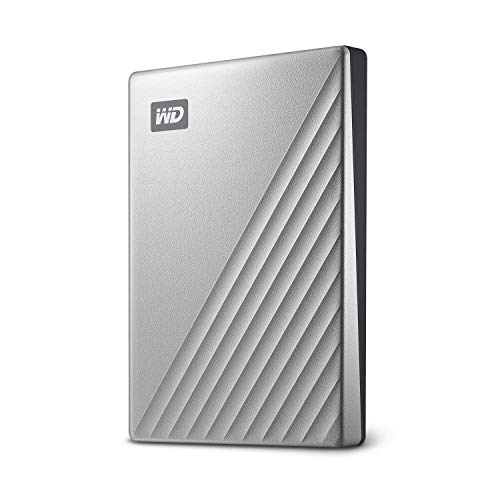 WD 1TB My Passport Ultra Silver Portable External Hard Drive, USB-C - WDBC3C0010BSL-WESN