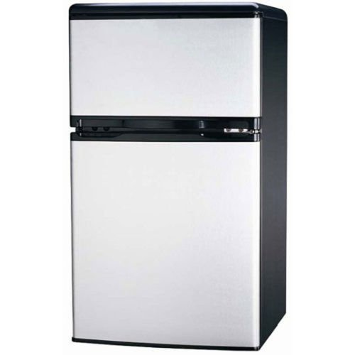 [Eight24hours FR834 3.2 CU Ft Compact Fridge Freezer 2-Door, Platinum] (Animals That Start With The Letter T)