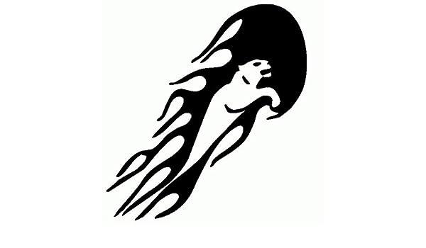 Puma-Pegatinas con llamas tribus Prespaziato-color negro-20 cm ...
