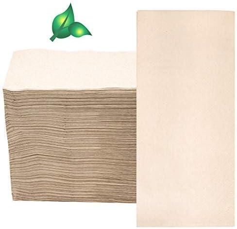 50PCS Compostable Napkins Biodegradable Eco Napkins White Disposable Napkin