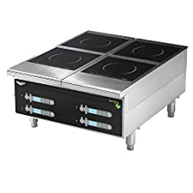 Vollrath 924HIDC Cayenne Heavy Duty Dual Induction Hot Plate with Digital Controls - 208/240V, 5800W