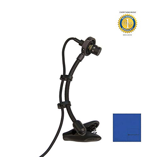 Audix Adx20I-P Miniature Condenser Clip-on Microphone with Microfiber and 1 Year Everything Music Extended Warranty