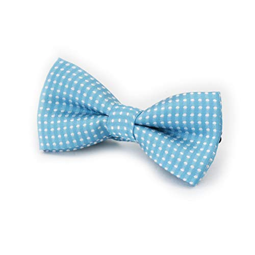 able Polka Dotted Bow Ties Wedding Party Essentials (Sky Blue) ()