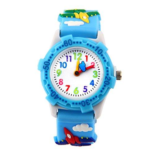 Boy Plane (Boys Girls Watch, Kids Waterproof Toy Teaching Watch Time Teacher Sports Analog Digital Watches Gifts)