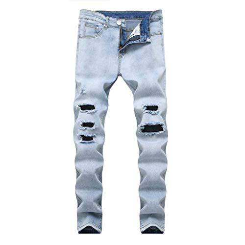 Taglie Comode Destrutturati Jeans Slim Sportivi Skinny Esterno Uomo Elasticizzati Fit Da Strappati Pantaloni Fitness Venmo Blau Abiti 0YUwqn