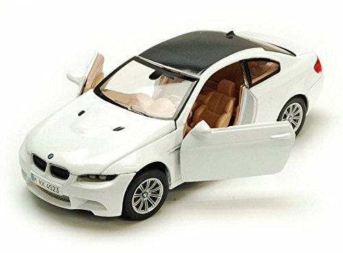 Motormax BMW M3 Coupe, White 73347W - 1/24 Scale Diecast Model Toy Car